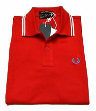 Polo T-shirt Maglia Uomo Men Fred Perry Made Italy Stretch Slim Fit 3138