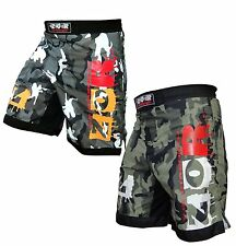 ZOR Camo MMA Fight Shorts Camouflage Pro MMA Shorts UFC Cage Fight Grappling