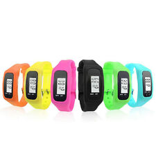 Mens Digital LCD Pedometer Run Step Walking Distance Calorie Counter Wrist Watch