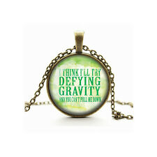 Defying Gravity Necklace, Wicked Musical, Glass Cabochon Cameo, Gift Idea