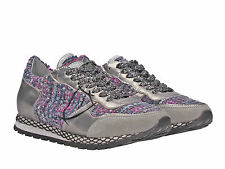 Sneakers Philippe Model donna in pelle argento