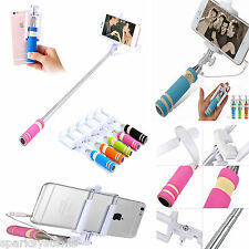 Mini Mono pod Selfie Stick Telescopic Bluetooth Wired Remote Mobile Phone holder