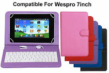 Premium Leather Finished Keyboard Tablet Flip Cover For Wespro 7inch