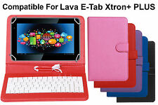 Premium Leather Finished Keyboard Tablet Flip Cover For Lava E-Tab Xtron Plus