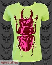 Neon Clubwear Ravewear Fashion T-Shirt FANCYBEAST mit Käfer FB368