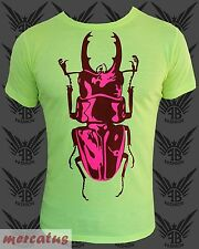 Neon Clubwear Ravewear Fashion T-Shirt FANCYBEAST mit Käfer FB369