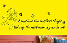 Disney Winnie the Pooh wall art sticker wall quote, decal #2