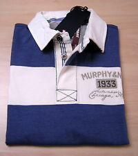 Polo Murphy and Nye maglietta Men Uomo rugby Parker Regular Jersey Piquet new