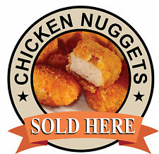 CHICKEN NUGGETS SIGN Catering shop Sign Window sticker Cafe Restaurant decal