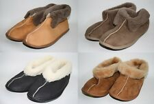 Mens Womans Sheepskin Slippers Calf Natural Leather Xmass Gift Idea BEST Quality