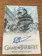 Game Of Thrones Season 5 Ross O'Hennessy As Lord Of Bones Autograph Card