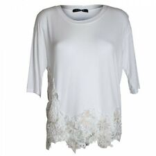 Latte Ladies Designer 3/4 Sleeved Light Weight Daisy Lace Top T-shirt Blouse