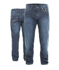 SHORT LEG RST Vintage Dark Wash BLUE ARAMID Denim Armour Jeans Motorbike/Scooter