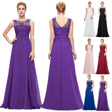 LACE+CHIFFON Long Evening Ball Gown Cocktail Party Prom Formal Bridesmaid Dress