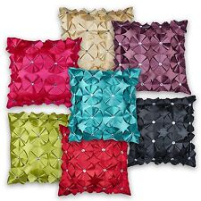 Ruffled Rose Crystal Diamante Effect Cushion Covers or Filled Cushions