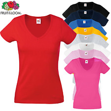Fruit Of The Loom Lady-Fit Valueweight V-Neck T-Shirt (61398)