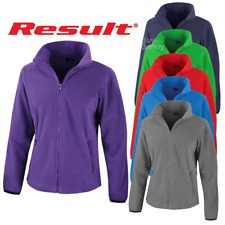 Result LADIES FLEECE JACKET ZIPPED FASHION FIT ZIP POCKETS WARM SOFT LIGHT SIZES