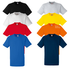 FRUIT OF THE LOOM MEN'S T-SHIRT 100% HEAVY COTTON TEE PLAIN SIZES S-3XL OFFER