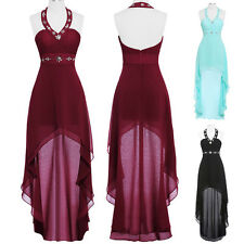 Halter Chiffon Asymmetrical Cocktail Evening Prom Party Dress Homecoming Gowns