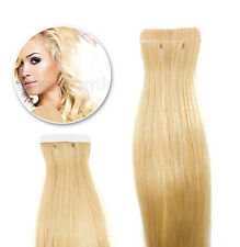 Tape In / On 100% Echthaar Remy Hair Extensions #24 mittelblond 2,5g / Tresse