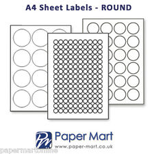 Round & Oval Labels On A4 Sheets - Labels Stickers for Laser Inkjet Printers
