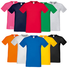 Fruit Of The Loom MEN'S T-SHIRT 100% SOFT COTTON PLAIN TOP TEE SIZES S-3XL OFFER