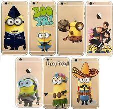 Case/Cover Apple iPhone 6 6s 5 5s SE + Screen Protector / Clear Silicone Minion