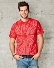 COLORTONE MEN'S UNISEX T-SHIRT COTTON TOP SPIRAL BRIGHT COLOURS FESTIVAL INDIE