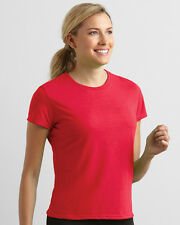GILDAN PERFORMANCE LADIES T-SHIRT WICKING GYM SPORT FITNESS TOP COLOURS XS-2XL