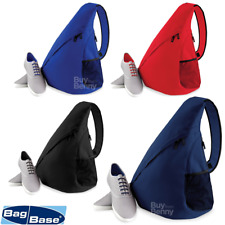 BagBase SINGLE STRAP BACKPACK MONOSTRAP TRIANGLE RUCKSACK MESSENGER SHOULDER BAG