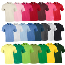 Gildan MEN'S T-SHIRT COTTON PLAIN SHORT SLEEVE TOP TSHIRT SIZES NEON COLOURS TEE