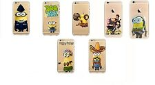 Apple iPhone 6 / 6S Minion Case Silicone Clear Gel Cover + Screen Protector