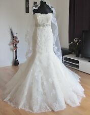 Gorgeous Vintage Romantic Mermaid Lace Wedding Dresses Women Bridal Gown Custom