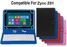 Premium Leather Finished Keyboard Tablet Flip Cover For Zync Z81
