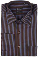 Modo Men's Regular Fit 100% Cotton Casual Shirt -Blue