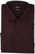 Modo Men's Regular Fit 100% Cotton  Casual Shirt -Maroon
