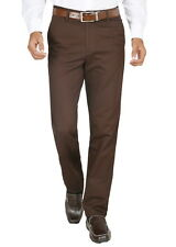 Modo Men's Regular Fit 100% Cotton Formal Dobby Dark Brown Trouser(TDBR)