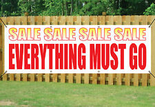 SALE EVERYTHING MUST GO SHOP BANNER OUTDOOR POSTER waterproof PVC with Eyelets