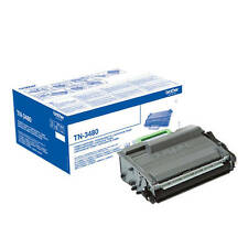 GENUINE BROTHER TN-3480 HIGH CAPACITY BLACK MONO LASER PRINTER TONER CARTRIDGE