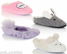 Womens Ladies Girls Novelty Animal Slippers Rabbit Sheep Slip On Mules