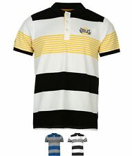 GINNASTICA Everlast Yarn Dye Stripe Polo Shirt Mens Grey/Wht/Navy