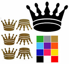 """Crown Wall Stickers x 6 Prince Crown Stickers Royal Glitter 4""""x 3"""""""