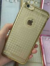 Mobier Soft Transparent Case  Back Cover Gold Dot Pattern For Apple Iphone 5/5S