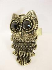 Vintage Style Owl Ring Antique Bronze Or Silver Retro Cute Gift Kitsch
