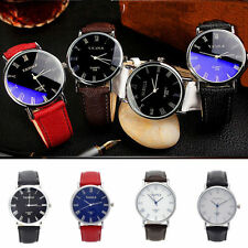 YAZOLE Fashion Unisex Leather Stainless Steel Military Sport Quartz Wrist Watch