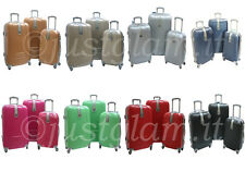 Set 3 trolley in abs ruote piroettanti trolley piccolo x voli low cost art 1305