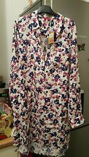 Joules Pink white ditsy floral Tunic shirt blouse dress size 10