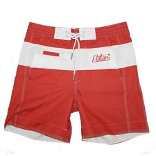 G-STAR League Swim Short Badehose Badeshorts Vidal Nylon Rot Weiß Gr. S
