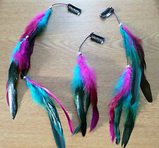 Feather Clip in hair extension/Feather extension Goth/Punk/Retro/BohoFestivals!