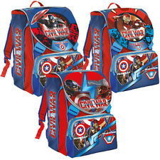 SCHOOLPACK CAPITAN AMERICA CIVIL WAR ZAINO ASTUCCIO 3 ZIP ACTION FIGURE MARVEL